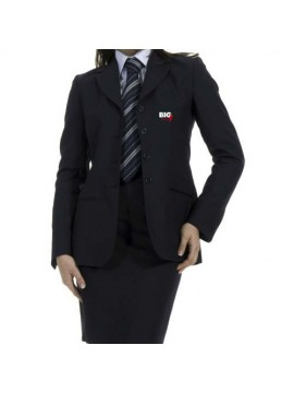 blue receptionist uniform suit